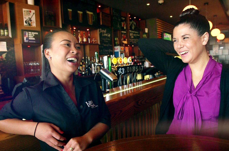 E_WAT_Girls Laugh in Bar